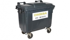 Omega Containers - 660 liter rolcontainer kunststof