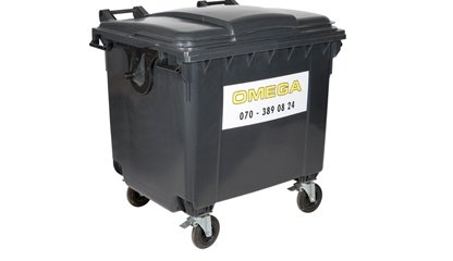 Omega Containers - 1000 liter rolcontainer kunststof