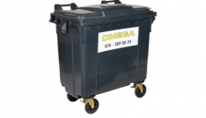 Omega Containers - 750 liter rolcontainer kunststof