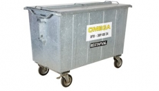 Omega Containers - 1000 liter rolcontainer staal
