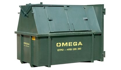 Omega Containers - 10 m3 gesloten afzetcontainer