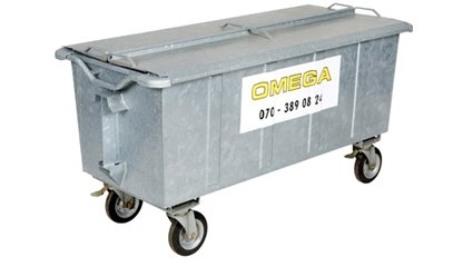 Omega Containers - 500 liter rolcontainer staal