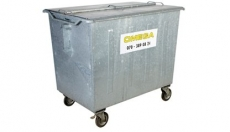 Omega Containers - 1600 liter rolcontainer staal
