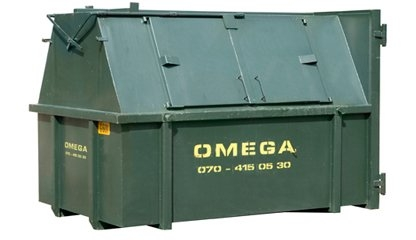 Omega Containers - 6m3 gesloten afzetcontainer