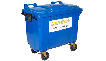 Omega Containers - 660 liter rolcontainer kunststof PK