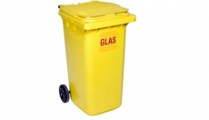 Omega Containers - 240 liter rolcontainer kunststof glas