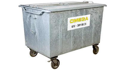 Omega Containers - 1300 liter rolcontainer staal